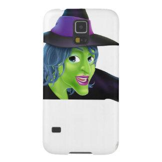 Bruja de Halloween que señala abajo Carcasas De Galaxy S5