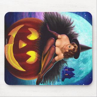 """""""Bruja de Halloween """" Tapetes De Ratones"""