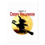 Bruja de Halloween Tarjetas Postales