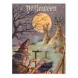 Bruja de Halloween - una noche asustadiza hacia fu Postal