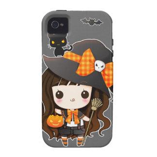 Bruja de Kawaiii Halloween iPhone 4 Fundas