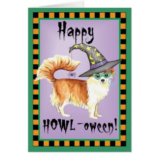 Bruja de la chihuahua tarjeta de felicitación