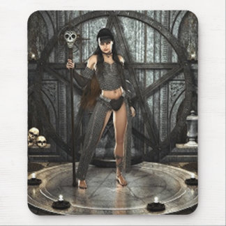 Bruja de la magia negra tapetes de raton