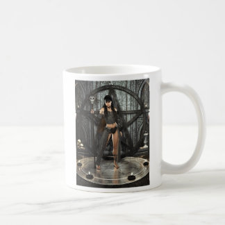 Bruja de la magia negra taza de café