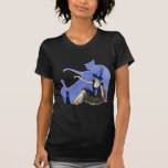 Bruja de la sombra y su gato negro camisetas