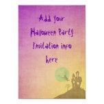Bruja de las invitaciones del fiesta de Halloween Invitación 12,7 X 17,8 Cm