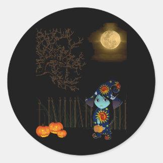 Bruja de Lil en el vestido celestial Halloween Etiqueta
