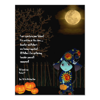 Bruja de Lil en la invitación de Halloween del