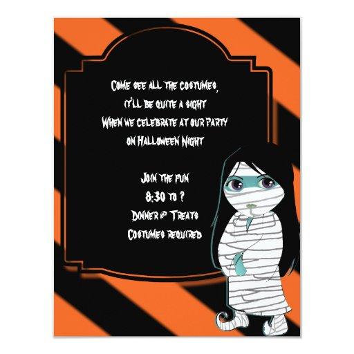 Bruja de Lil la invitación del fiesta de Halloween
