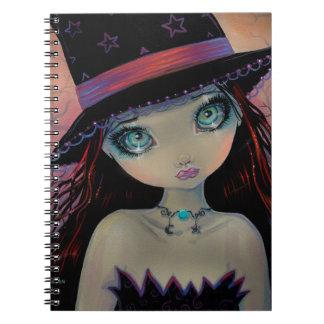 Bruja de ojos brillantes note book