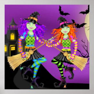 Bruja de Rockin Halloween - SRF Posters