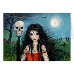 Bruja de Samhain de la tarjeta de Halloween