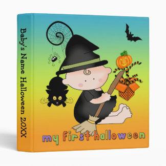 """Bruja del bebé mi 1r Halloween 1"""" carpeta"""