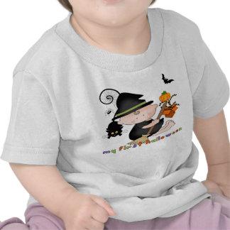 Bruja del bebé mi 1ra camiseta del niño de Hallowe
