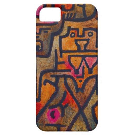 Bruja del bosque de Paul Klee iPhone 5 Carcasas