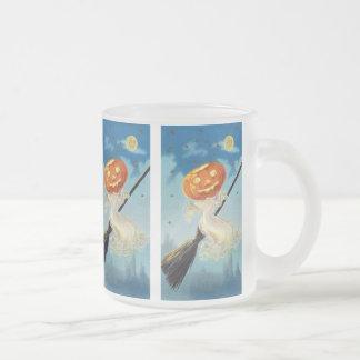 Bruja del fantasma de la calabaza tazas de café