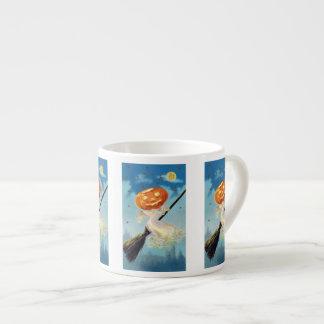Bruja del fantasma de la calabaza taza espresso