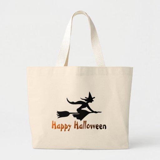 Bruja del feliz Halloween Bolsa Tela Grande