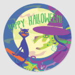 Bruja del feliz Halloween del PEGATINA