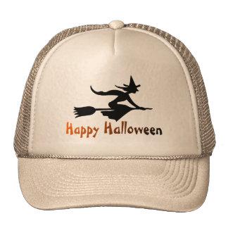 Bruja del feliz Halloween Gorras