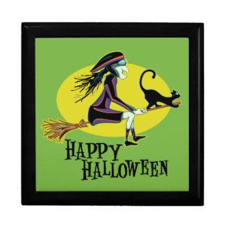 Bruja del feliz Halloween Cajas De Regalo