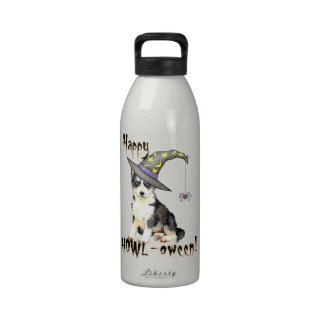 Bruja del husky siberiano botallas de agua