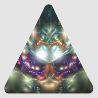 Bruja del mar pegatina triangular