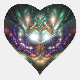 Bruja del mar pegatina en forma de corazón