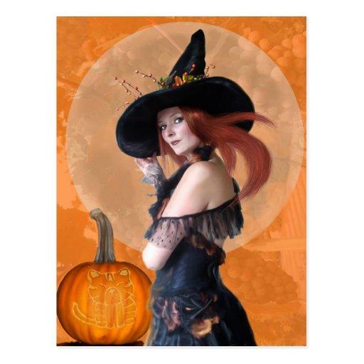 Bruja del otoño (postal)
