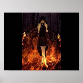 Bruja del poder de fuego póster