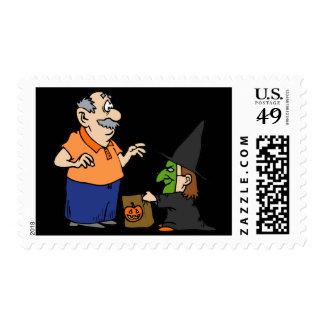 Bruja del truco o de la invitación sello