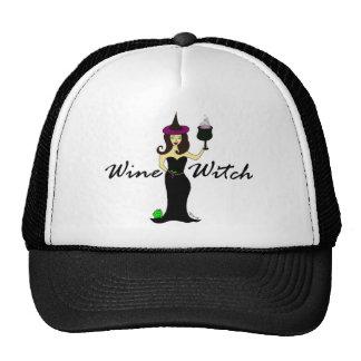 Bruja del vino gorras