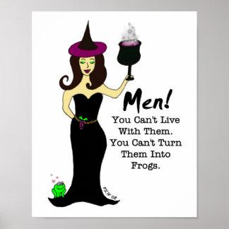¡Bruja del vino, hombres! Póster