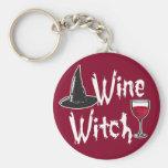 Bruja del vino llavero personalizado