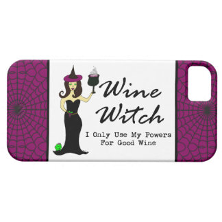 "Bruja del vino ""utilizo solamente mis poderes para iPhone 5 fundas"