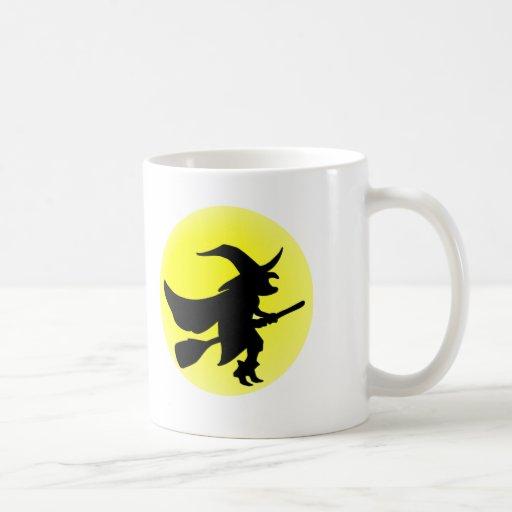 Bruja del vuelo tazas de café