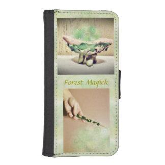 Bruja Elvin Bkg. ligero de la naturaleza de Magick Billeteras Para Teléfono