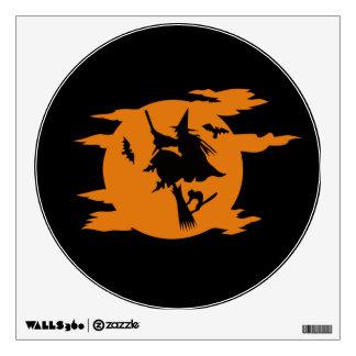 Bruja en etiqueta de la pared de Halloween del pal Vinilo Adhesivo