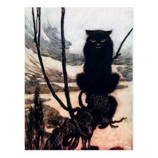 Bruja en forma del gato postales