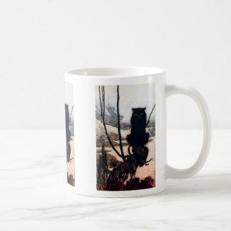 Bruja en forma del gato tazas de café