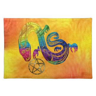 Bruja encantadora de la serpiente mantel individual