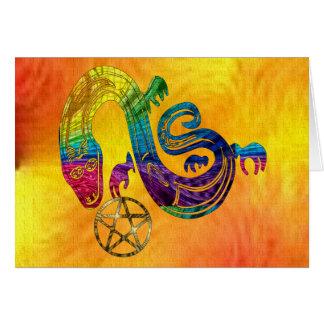 Bruja encantadora de la serpiente tarjeta de felicitación