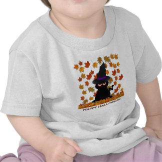 Bruja fantasmagórica del gatito camisetas