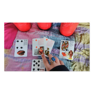 Bruja gitana psíquica tarjetas de visita