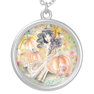 Bruja grande linda de Halloween del ojo en remiend Collar Personalizado