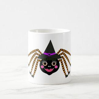 Bruja Halloween de la araña Taza