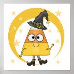 Bruja Halloween de las pastillas de caramelo Impresiones