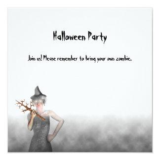 Bruja - invitación del fiesta de Halloween