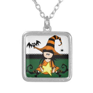 Bruja linda de Halloween Collares Personalizados