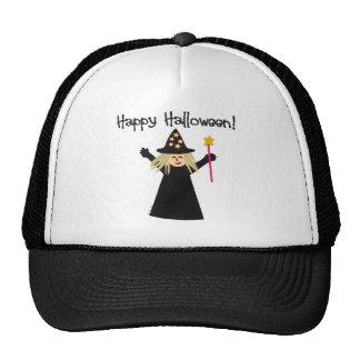 Bruja linda del feliz Halloween Gorras De Camionero